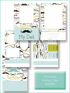 Fathers Day Printable Dad Booklet    Thank you!!!  If you love my printables I would love it if you would vote for me in the Top Mom Blogs http://www.circleofmoms.com/blogger/lovely-living?blogroll_id=76    Thank you xx