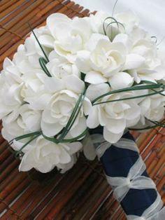 Ramo de novia de gardenias