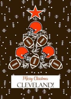 Merry Christmas OU!!! Cleveland Team, Cleveland Browns Football, Cleveland Rocks, Cleveland Indians, Cle Browns, Cleveland Against The World, Cleveland Browns Wallpaper, Baseball Sayings, Christmas Crafts