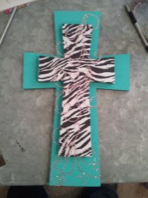 DIY Stackable Wooden Crosses. My daughter room is everything zebra. This is great