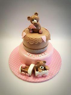 Teddy bears for a little princess - cake by Michaela Hybska Vanilla Cream, Little Princess, Donuts, Birthday Cake, Cupcakes, Chocolate, Teddy Bears, Daily Inspiration, Cake Decorating