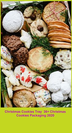 Christmas Cookie Tray - Build a beautiful Christmas Cookie Tray full of all those favorite Christmas cookies they are sure to love! christmas cookies packaging Christmas Cookies Tray 36+ Christmas Cookies Packaging 2020 Christmas Cookies Packaging, Cookie Packaging, Holiday Cookies, Christmas Deserts, Holiday Desserts, Holiday Recipes, Christmas Decor, Cozy Christmas, Rustic Christmas