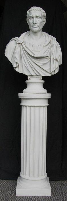 Julius Caesar in Toga Bust Sculpture