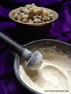 A recipe and Instructions for making a Frankincense, (or other oleoresin) extract, and how to transform it into a healing cosmetic creme. If you are using any type of Frankincense, Mastic, Myrrh, Elemior other hard brittle oleo-resins, grind them to a fine powder first. (See the post on...