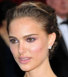 Natalie Portman - purple make-up