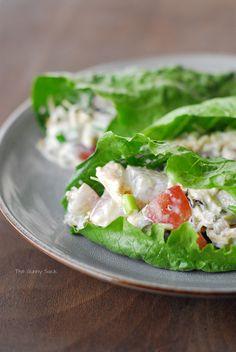 Wild Rice Chicken Salad Lettuce Wraps