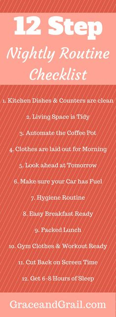 Evening routine for a smooth organized morning, homemaker tips