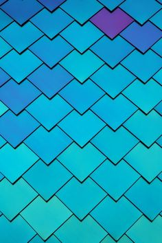 The colorful anodized shingles of the Natural Science and Engineering Research Lab facility (Mermaid Building) | UT Dallas by JimBab.