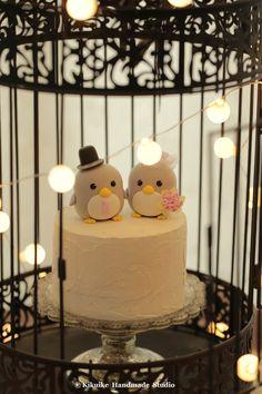 penguin cake topper---Special Edition #wedding cake #cute penguin