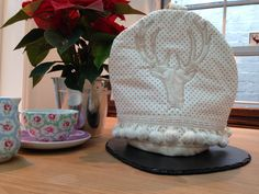 Items similar to Cottage Stag Posh Tea Cosy with Pom Pom Trim Pink and Cream on Etsy Pom Pom Trim, Cosy, Tea Pots, Sewing Projects, Cottage, Cream, Creative, Pink, Handmade