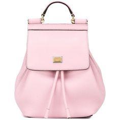 Dolce & Gabbana 'Sicily' backpack (16.532.630 IDR) ❤ liked on Polyvore featuring bags, backpacks, borse, handbags, purses, rucksack bag, hardware bag, drawstring backpack bags, backpacks bags and draw string backpack