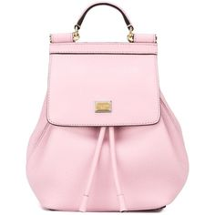 Dolce & Gabbana 'Sicily' backpack (€1.105) ❤ liked on Polyvore featuring bags, backpacks, purses, сумки, pink backpack, dolce gabbana bag, hardware bag, pink bag and backpacks bags