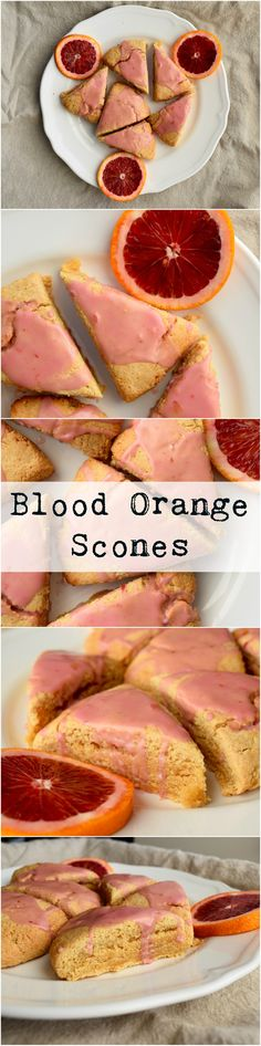 An easy and delicious vegan scone using blood oranges for a delicious citrus flavor. Sugar free option.