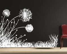 Love Dandelions in artwork.  This is a neat wall decal.
