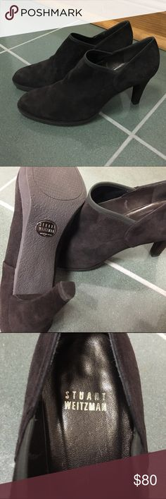 Stuart Weitzman Booties Brand NEW Stuart Weitzman ankle booties. Super comfy stretch suede. Can be dressed up or down. Never worn! 3.5 inch heel. Stuart Weitzman Shoes Ankle Boots & Booties