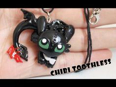 DIY Toothless Night Fury Dragon Pendant Polymer Clay Tutorial (How to train your dragon) - YouTube