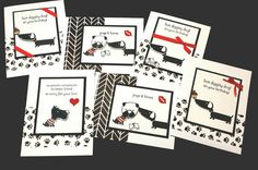Card set donated to a Animal rescue fundraiser using Stampin' Up! Hot Diggity Dog and RUFF die set from Dies By Dave on Etsy.