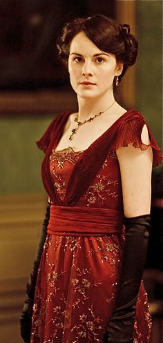 Downton Abbey's red dress - made from a turn-of-the-century Spanish evening dress.