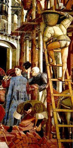 Domenico di Bartolo,  scene Enlargement of the Hospital, 1440-1444. Santa Maria della Scala, Siena