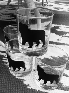 Animal Silhouette in Chalk paint on  Drinking by OnyahDesigns, $55.00