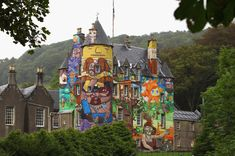 8. Kelburn Castle: Based in Scotland, the castle makes our list for the sad fact that its wild makeover is set to revert to plain old thirteenth century stonework next year.