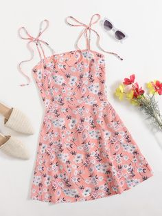 Swag Outfits For Girls, Chill Outfits, Girls Fashion Clothes, Summer Outfits, Cute Outfits, Fashion Outfits, Summer Dresses, Cami Dress Outfit, Dress Outfits
