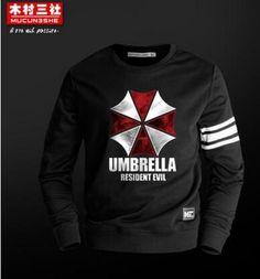 (HD36)Autumn Winter Umbrella Resident Evil Sweatershirt Casual Hoodie Men Cosplay Costume Men's Game Hoodies
