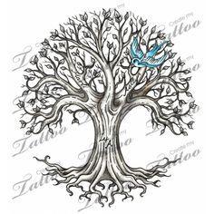 Family Tree Tattoo | Family Tree - Shaded #26673 | CreateMyTattoo.com