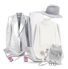 """""""Silver & White...""""A little pop of pink glitter is always a good idea""""!"""" by onesweetthing ❤ liked on Polyvore featuring Michael Kors, Karl Lagerfeld, Bianca Spender, Yves Saint Laurent, Eugenia Kim, Jennifer Behr, Loeffler Randall, Marc Jacobs and Chanel"""