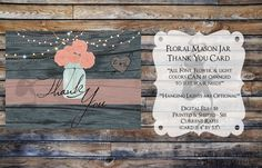 This Thank You Card would also be cute framed and set out by the basket of party favors.