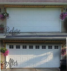 Set of vinyl decals to look like garage door windows. Get the look of windows with the privacy of none. See before and after pictures for final results. Select how many sets of windows you need for your garage door (1 window equals 4 blocks per window). These are designed to fit in a