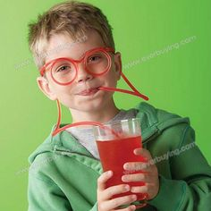 Amazing Drinking Straw Glasses for Party Christmas Gift...gave them to all my nieces of nephews last year...Container Store!