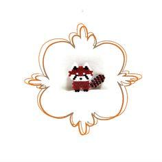 Seed Bead Pattern: Red Panda Brick Stitch