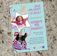 your invited rock star   Rock Star Diva Party Invitations - Print Your own