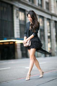 Birdie :: Feather blazer & Asymmetric tunic (via Bloglovin.com )