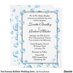 Fun Fantasy Bubbles Wedding Invitations 50% off