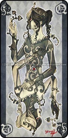 Augen Auf: Queen of Spades by yuumei.deviantart.com on @deviantART