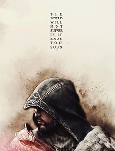 Ezio, on his own story Asesins Creed, All Assassin's Creed, Assassins Creed Quotes, Assassin's Creed Hidden Blade, Ezio, Connor Kenway, Like4like, Geek Stuff, Gaming