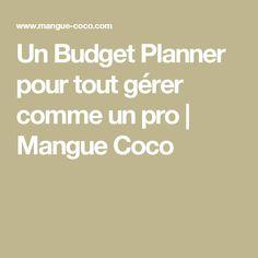 Un Budget Planner pour tout gérer comme un pro | Mangue Coco