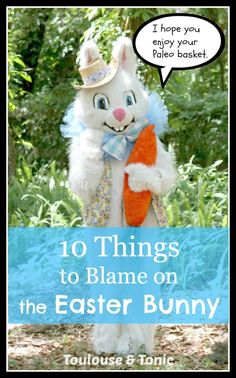 10 Things to Blame on the Easter Bunny. Did you forget candy for your easter baskets? Screw up the Easter recipes? No sweat, blame it on the bunny! | humor | funny lists