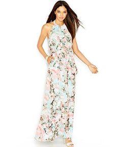 Cool Junior Bridesmaid Dresses Jessica Simpson Sleeveless Halter-Neck Floral-Print Maxi Dress - Dresses - Women - Macy's Check more at https://24myshop.ml/my-desires/junior-bridesmaid-dresses-jessica-simpson-sleeveless-halter-neck-floral-print-maxi-dress-dresses-women-macys/