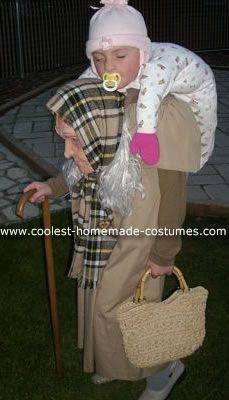 Homemade Baby on Granny's Back Optical Illusion Costume