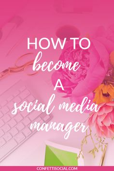 Becoming a social media manager and being able to work from home is the ultimate dream. Find out how to become a social media manager and get access to a free social media management checklist on Confetti Social. Inbound Marketing, Social Media Marketing Agency, Marketing Quotes, Content Marketing, Online Marketing, Marketing Tools, Business Marketing, Mobile Marketing, Marketing Digital