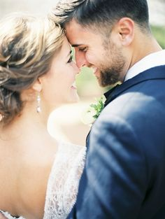 Blissful Bride and Groom | Krista A. Jones Fine Art Photography | Artistic French Blue Wedding