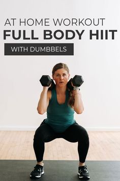 Your new favorite workout format is the SUPERSET WORKOUT! This full body workout combines two circuits of upper body and lower body exercises in a SUPERSET format, which is great for building muscle using weights you have at home, like dumbbells! Follow along as trainer Lindsey coaches you through these 8 dumbbell HIIT exercises in a 30 minutes full body burn! Interval Training Workouts, Endurance Workout, Dumbbell Workout, High Intensity Interval Training, Hiit, Kettlebell, Body Exercises, Stomach Exercises, Body Workouts