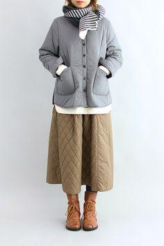 미니본딩남방 Fashion 2018 Trends, Simply Fashion, Linen Dresses, Must Haves, Winter Outfits, Ready To Wear, How To Make, How To Wear, Winter Jackets