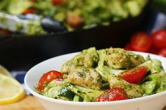 """This Chicken Pesto And Zucchini """"Pasta"""" Makes The Perfect Light Summer Dinner"""