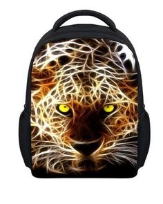 Small 3D Animal Leopard Printing Backpacks Children School Backpack Zoo Owl  Dinosaur Kids Rucksack Cool Boys School Book Bags 63864ca3e3bb6