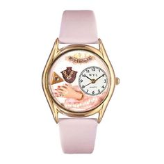 Jewelry Lover Pink Pearls Watch Small Gold Style