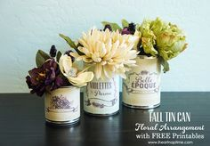 September 6, 2013 by: ErinFall Floral Arrangement with FREE Printables